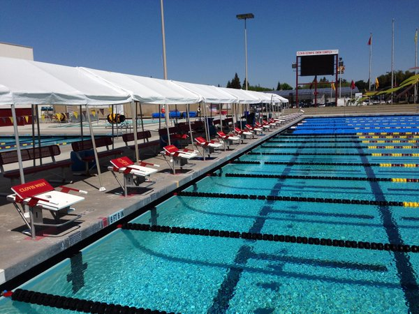 The first CIF State Swimming and Diving championships was held last year at Clovis West high school.